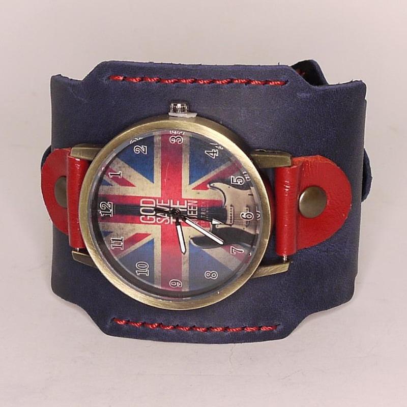 Чоловічі годинники для подарунка Britannia Black Leather