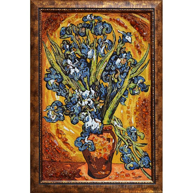 Картина з бурштину Ван Гог Іриси