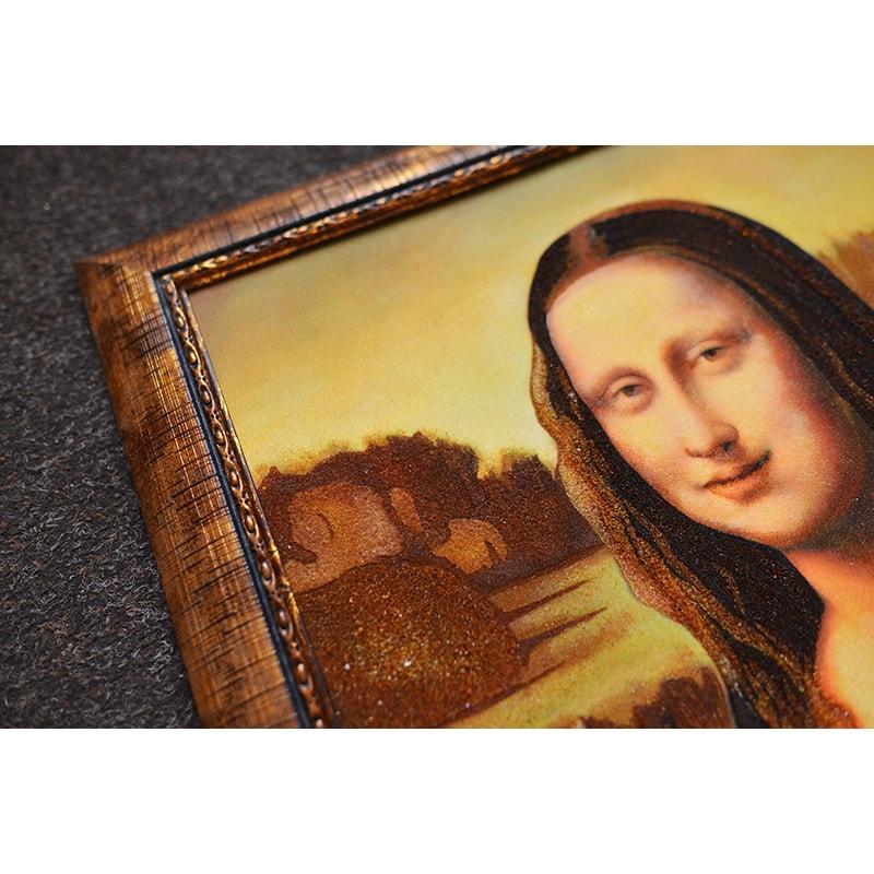 Картина из янтаря Леонардо да Винчи Мона Лиза