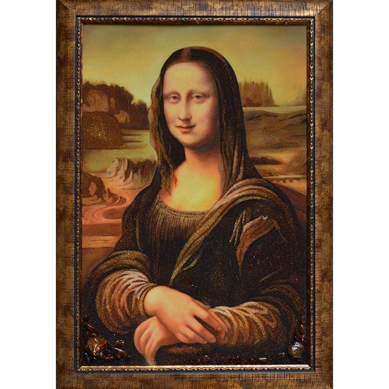 Картина з бурштину Леонардо да Вінчі Мона Ліза