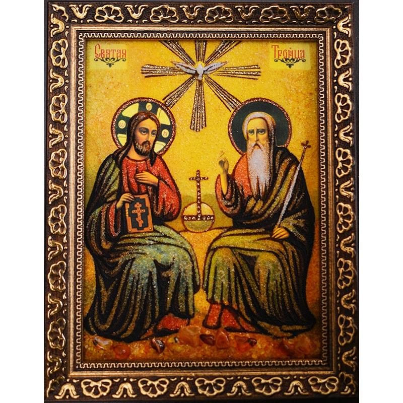 Икона из янтаря в подарок Святая Троица