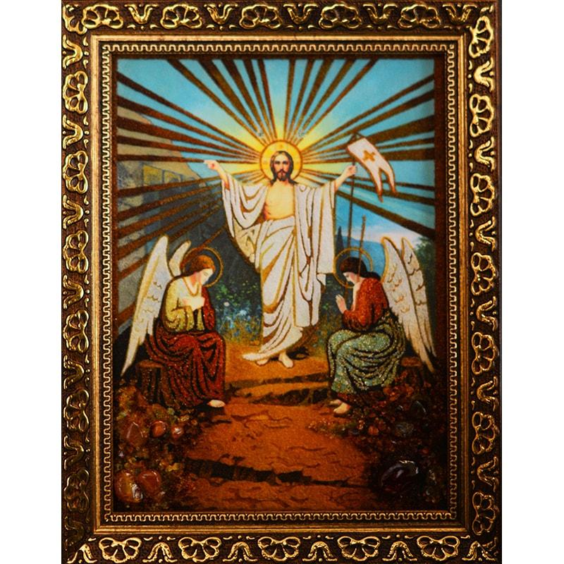Нandmade Икона из янтаря Воскресение Господне