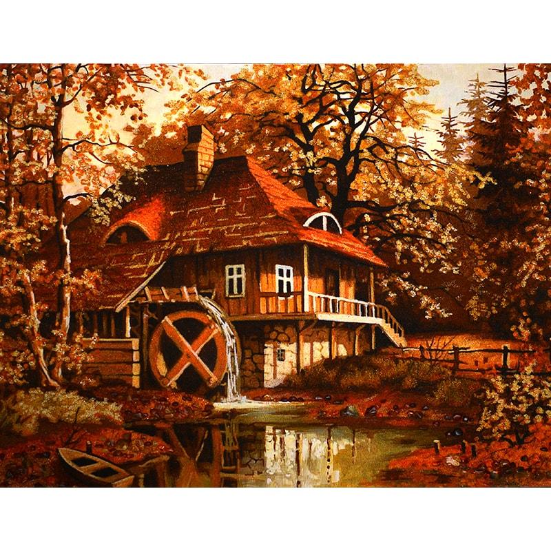 Картина з бурштину Станіслав Вилк Млин