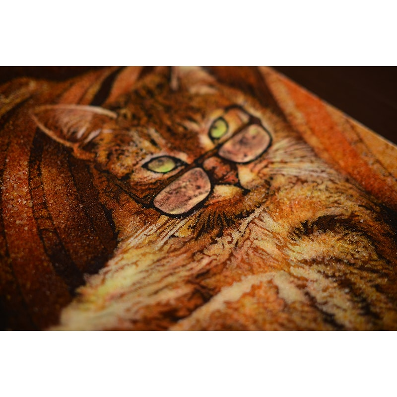 Картина из янтаря Умный Кот