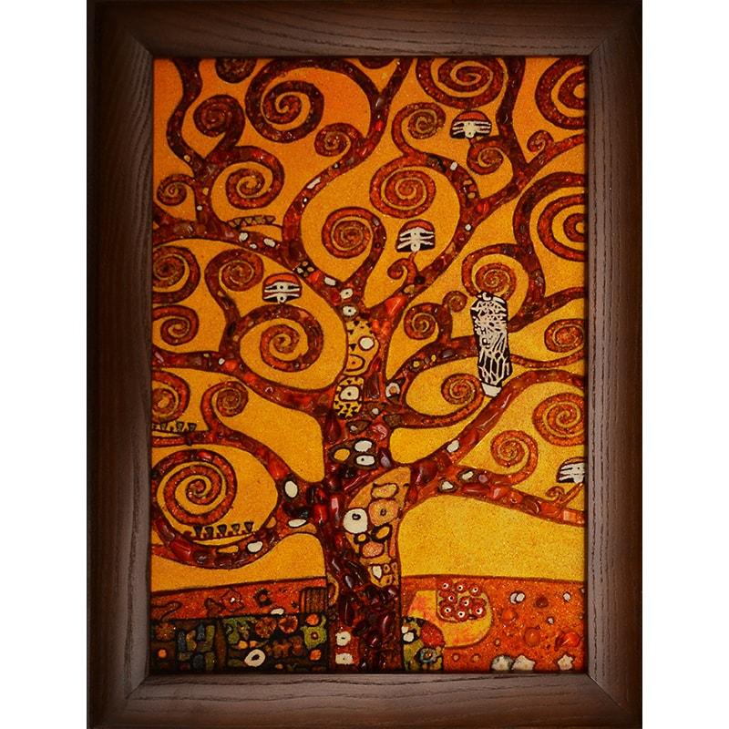 Картина з бурштину Густав Клімт Древо Життя