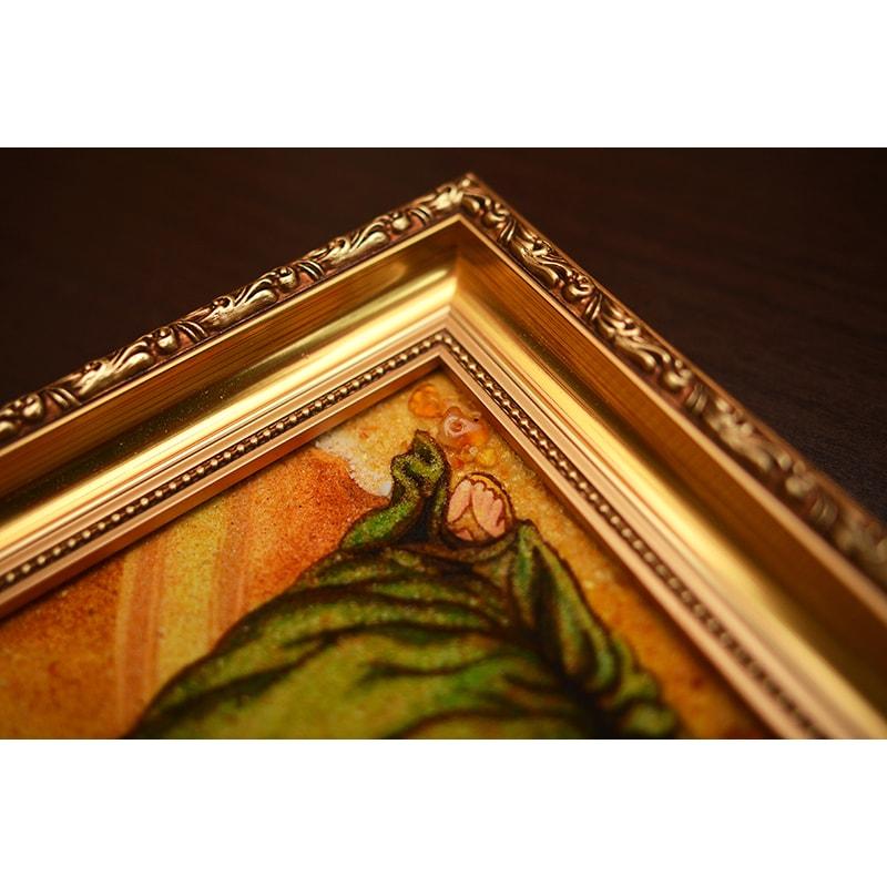 Картина з бурштину в подарунок Ріг Достатку