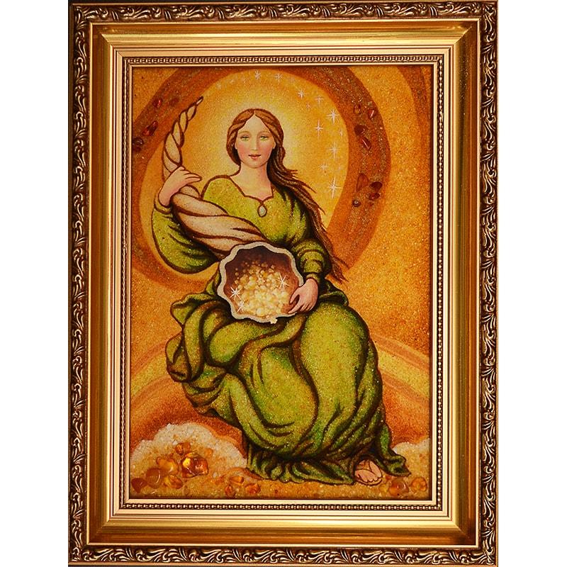 Картина из янтаря в подарок Рог Изобилия