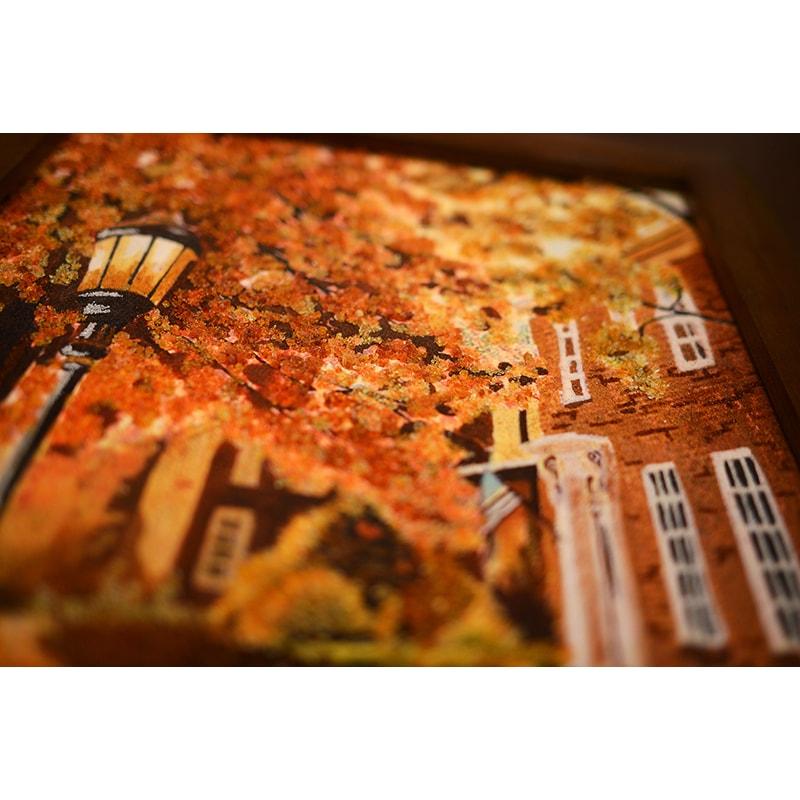 Картина из янтаря в подарок Кэти Хиллегас Фонарик