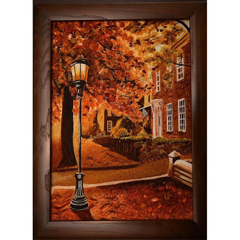 Картина з бурштину в подарунок Кеті Хиллегас Ліхтарик