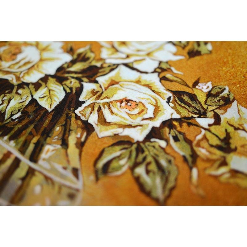 Натюрморт з бурштину Білі Троянди