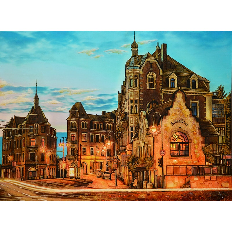 Пейзаж з бурштину в подарунок Вечірній Дрезден