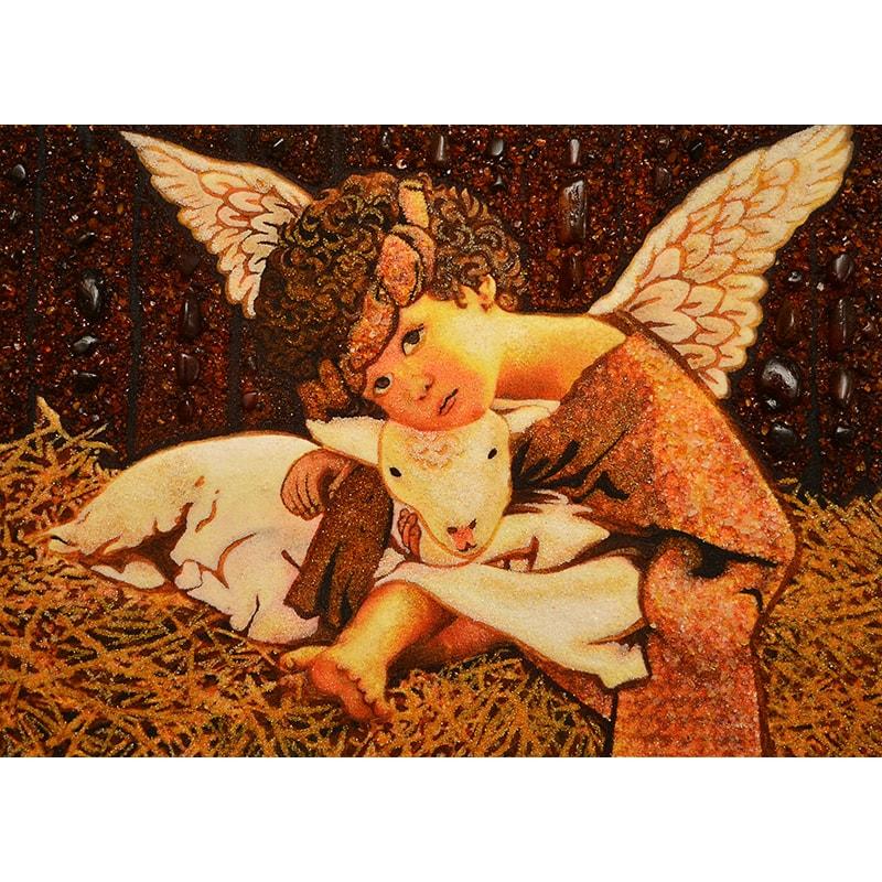Картина из янтаря Ненси Ноэль Ангелочек