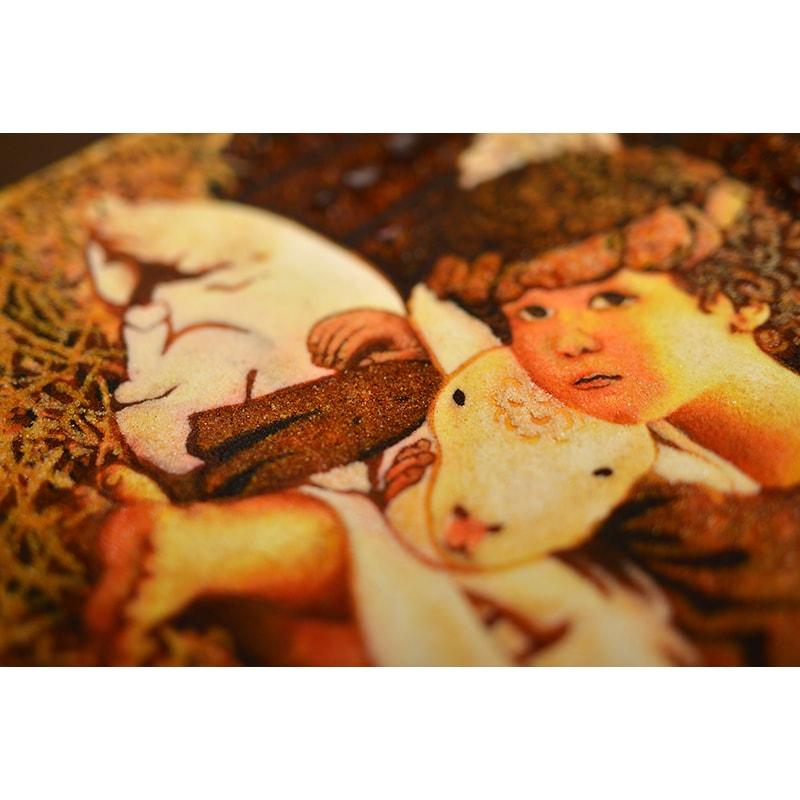 Картина з бурштину Ненсі Ноель Янголятко