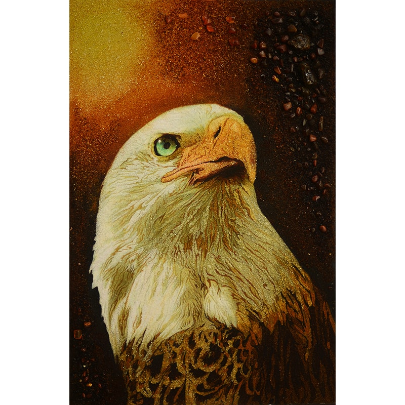 Картина з бурштину в подарунок Орел
