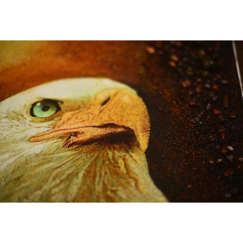 Картина из янтаря в подарок Орел