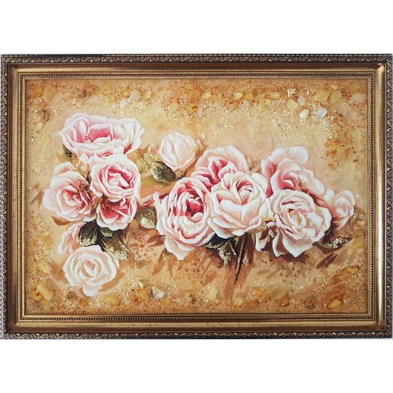 Картина из янтаря в подарок Нежность
