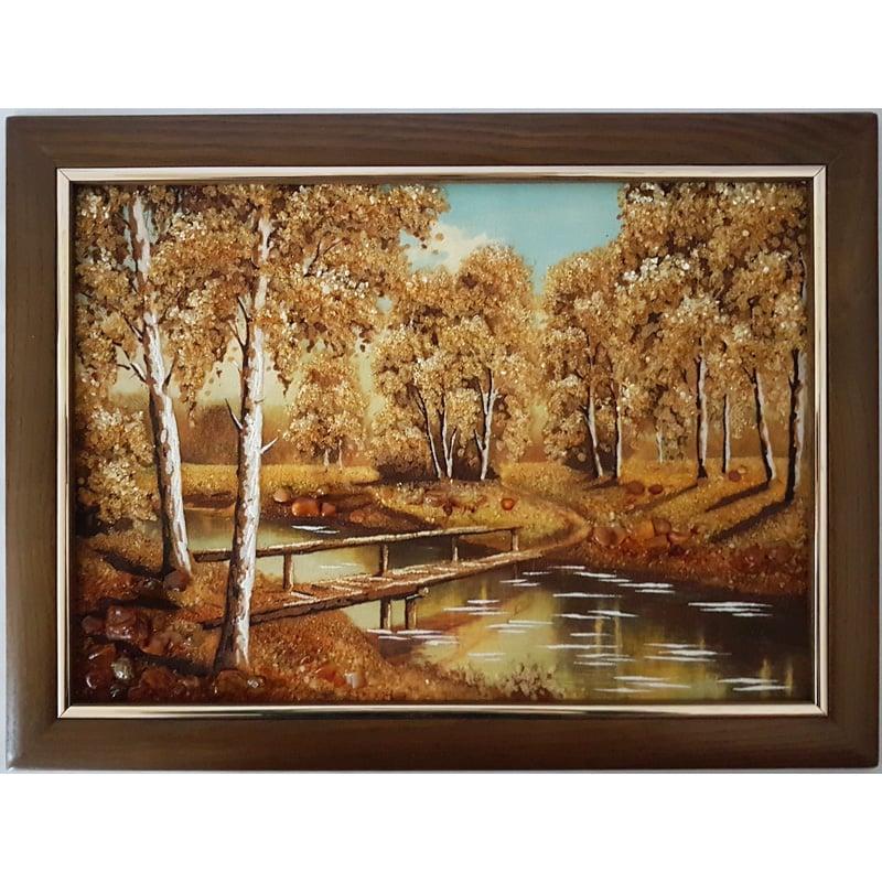 Авторская картина из янтаря Старый мост