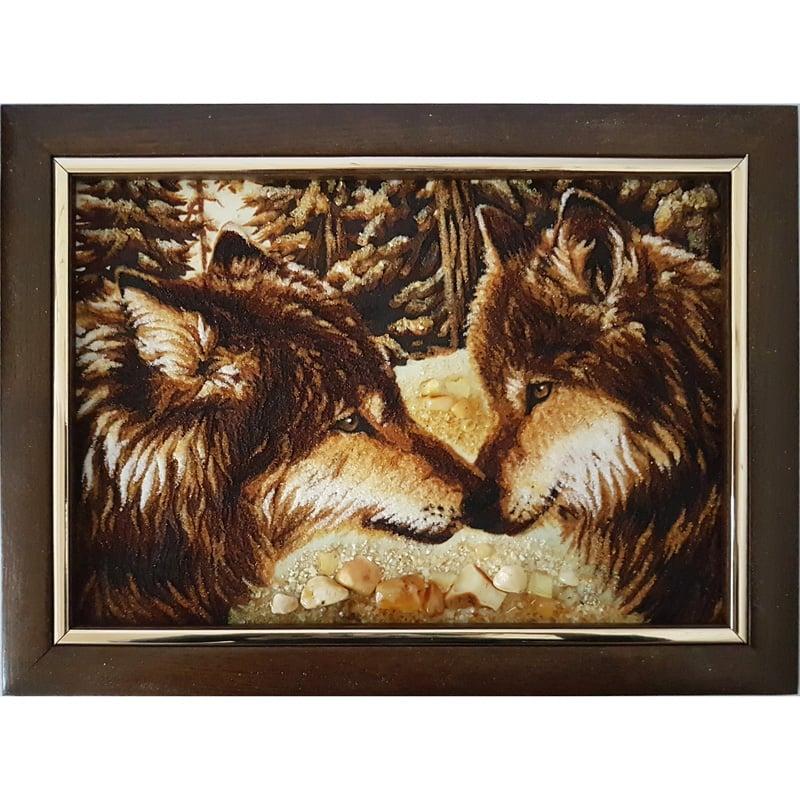 Картина в янтаре в подарок Любовь
