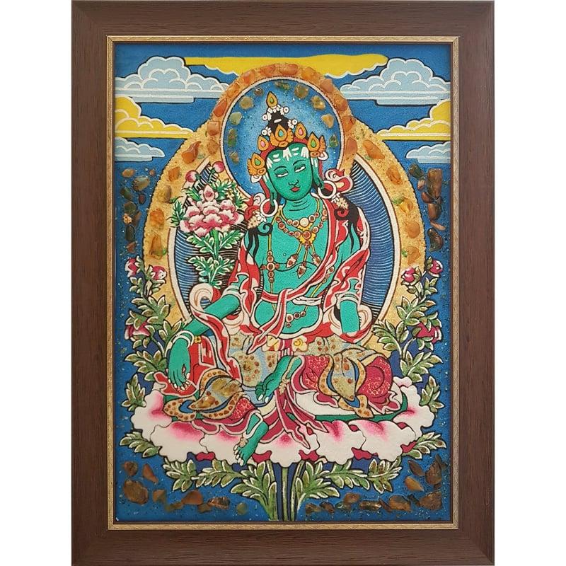 Дизайнерская картина из янтаря Будда