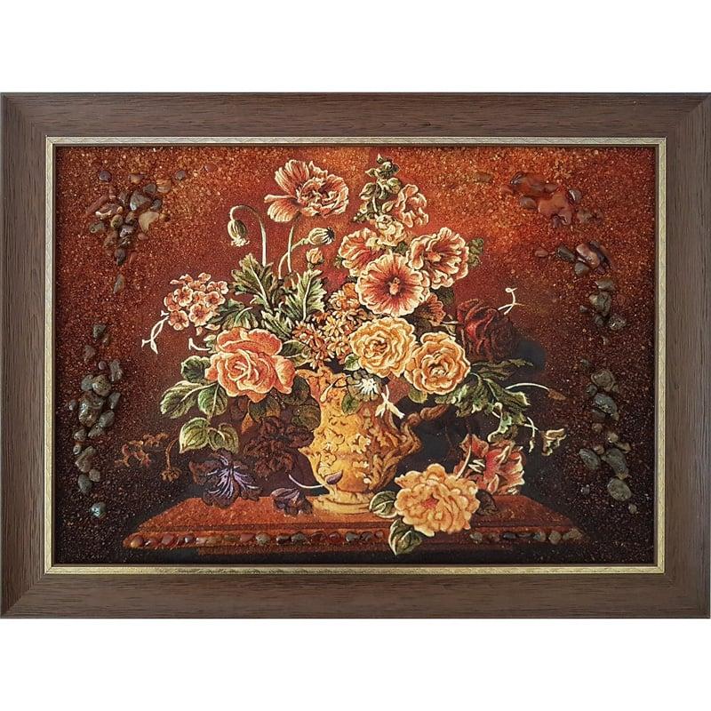 Картина из янтаря Винтажные Цветы