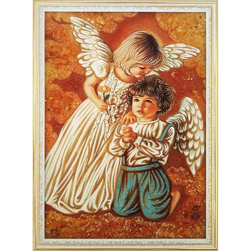 Картина в янтаре Ангелочки