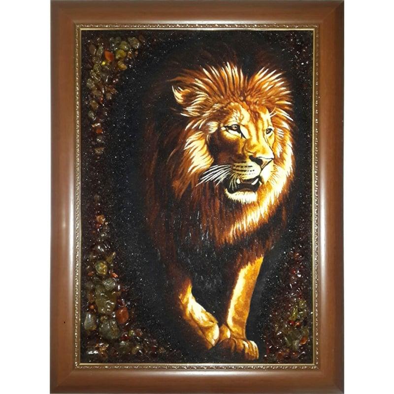 Картина из янтаря ручной работы Лео