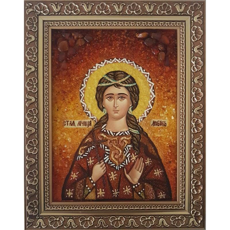 Икона из янтаря ручной работы Любовь