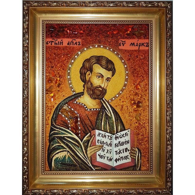 Авторская икона из янтаря в подарок Святой Марк