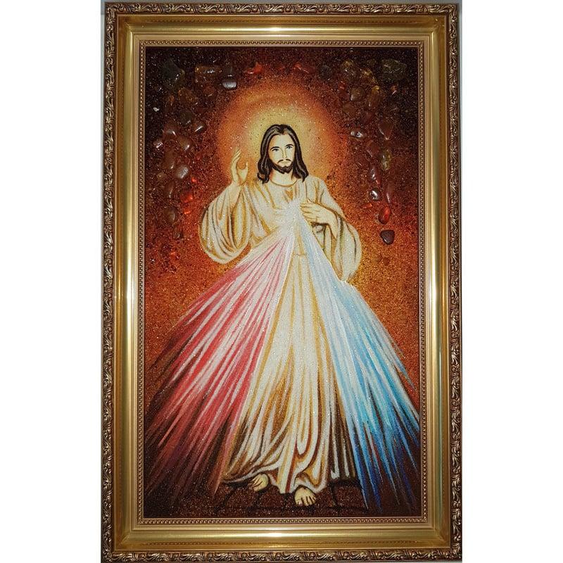 Икона в подарок в янтаре Божественный Свет