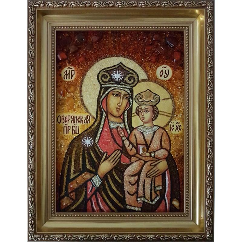 Икона в янтаре Пресвятая Богородица