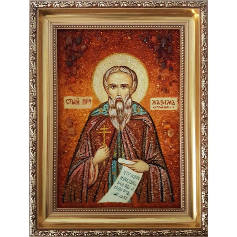 Икона из янтаря в подарок Святой Максим