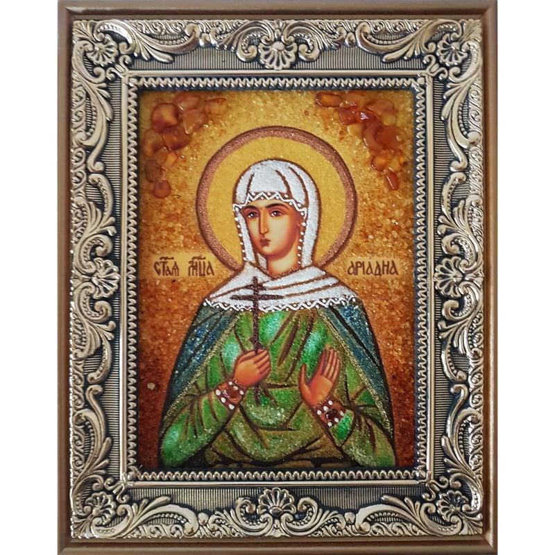 Икона именная из янтаря Святая Ариадна