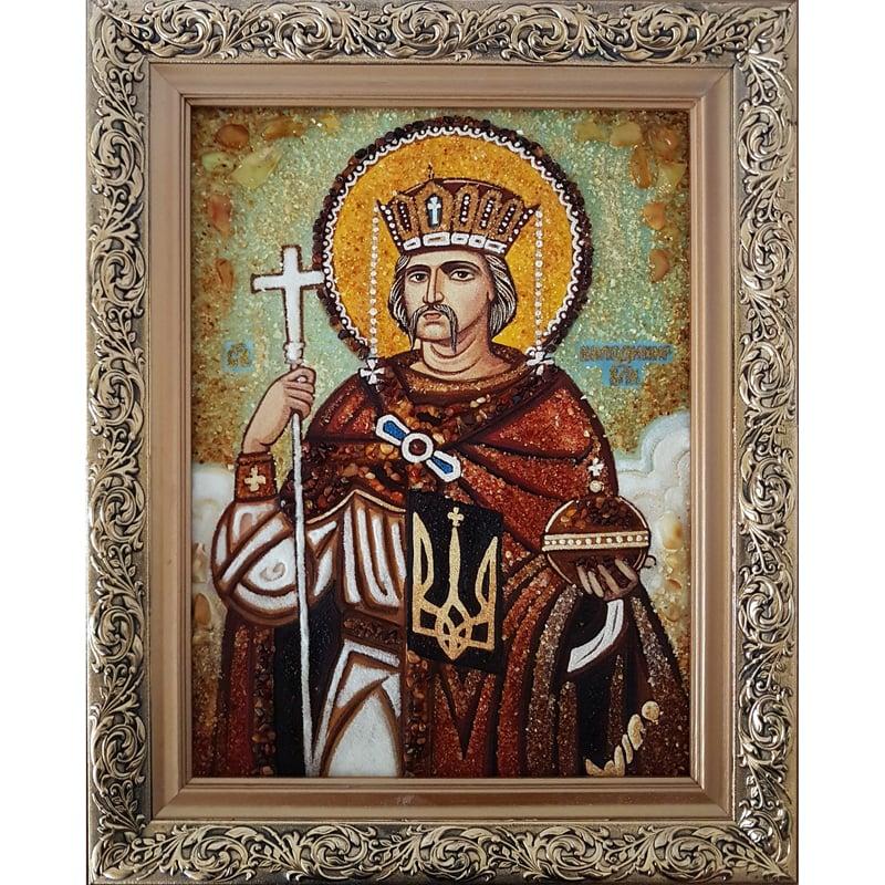 Икона из янтаря в подарок Князь Владимир