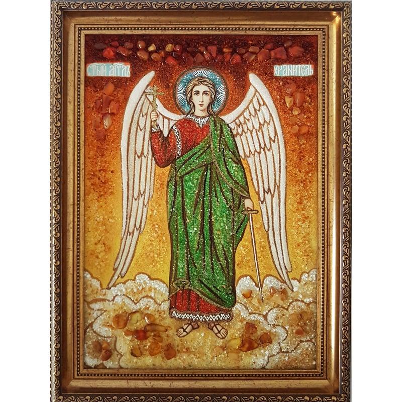 Икона из янтаря в подарок Ангел Хранитель