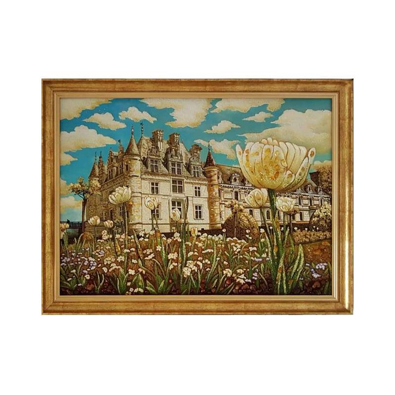 Картина з бурштину Білий замок