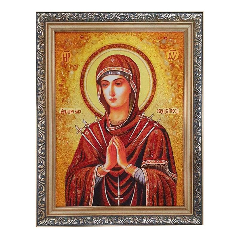Икона из янтаря Умягчение Злых Сердец