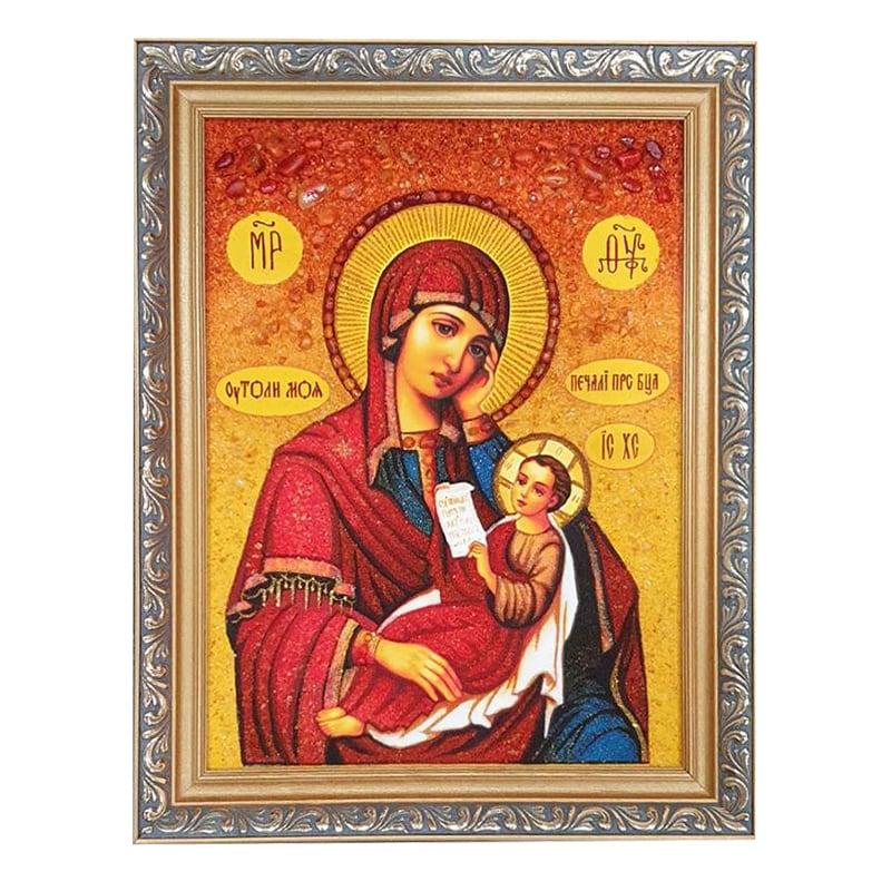 Икона янтарь Утоли Мои Печали