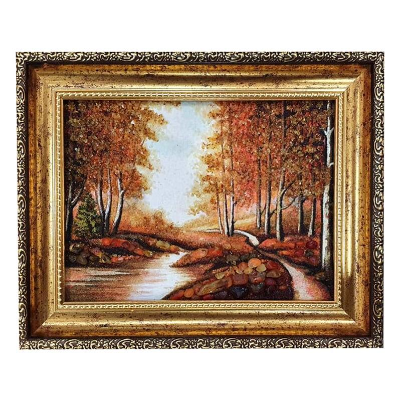 Картина из янтаря Лесной Ручей