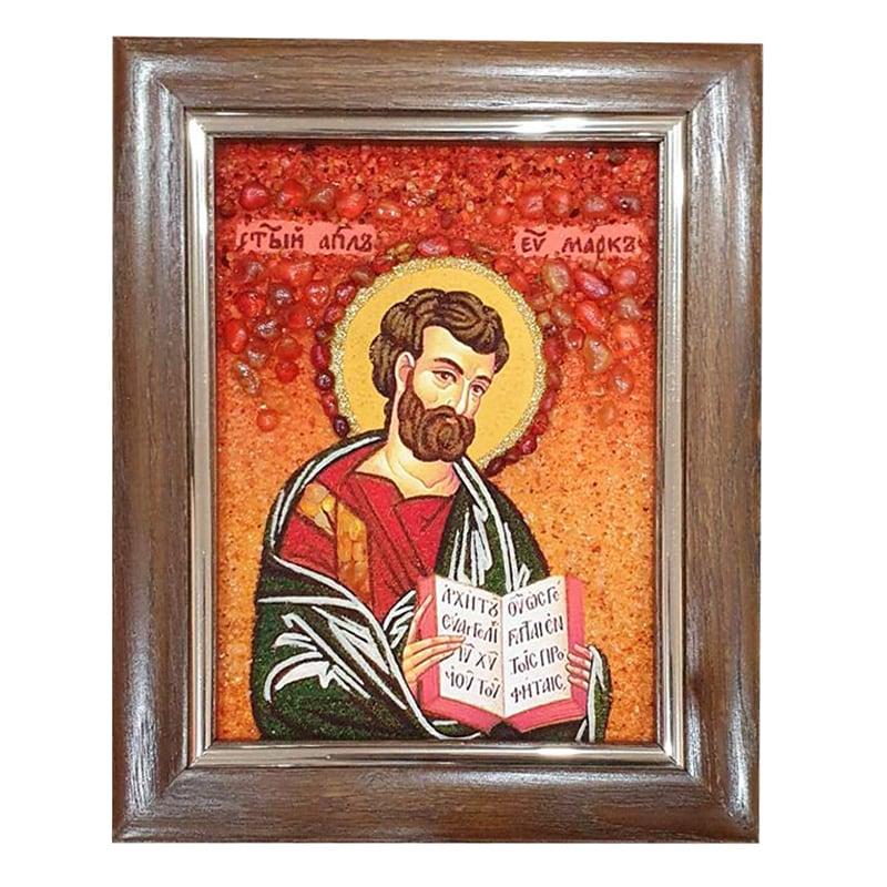Икона из янтаря Святой Апостол Марк