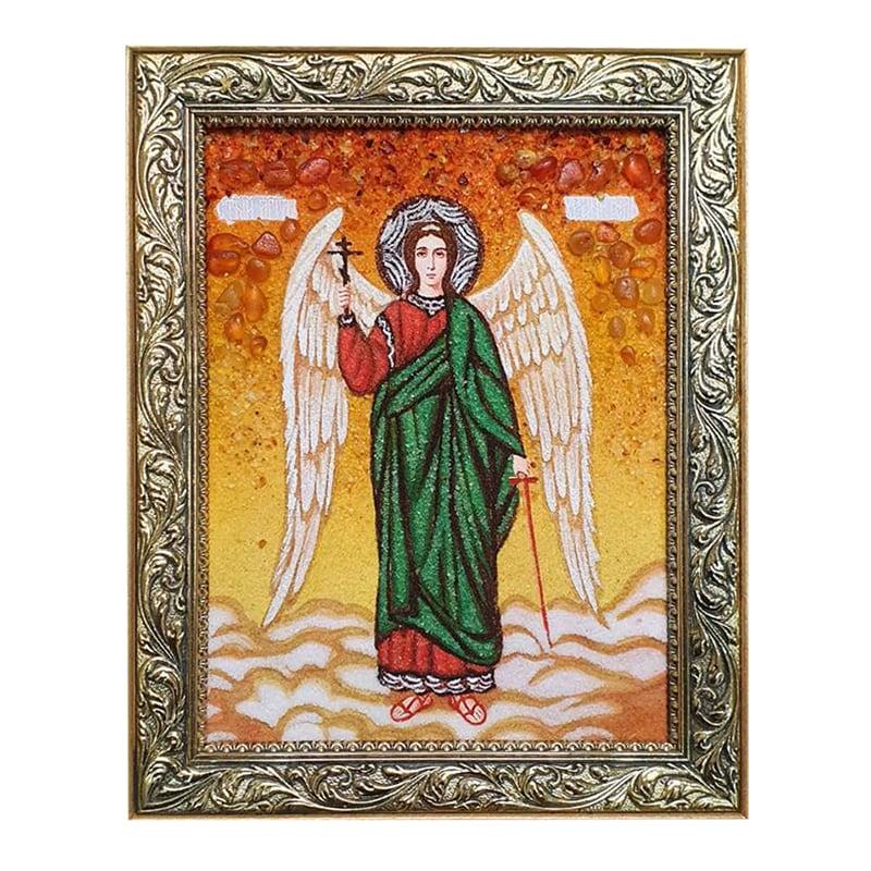 Ікона з бурштину Ангел Хранитель