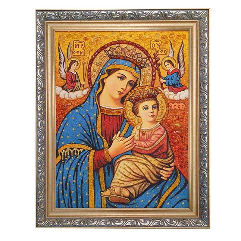 Ікона з бурштину Богородиця-радість всіх ангелів