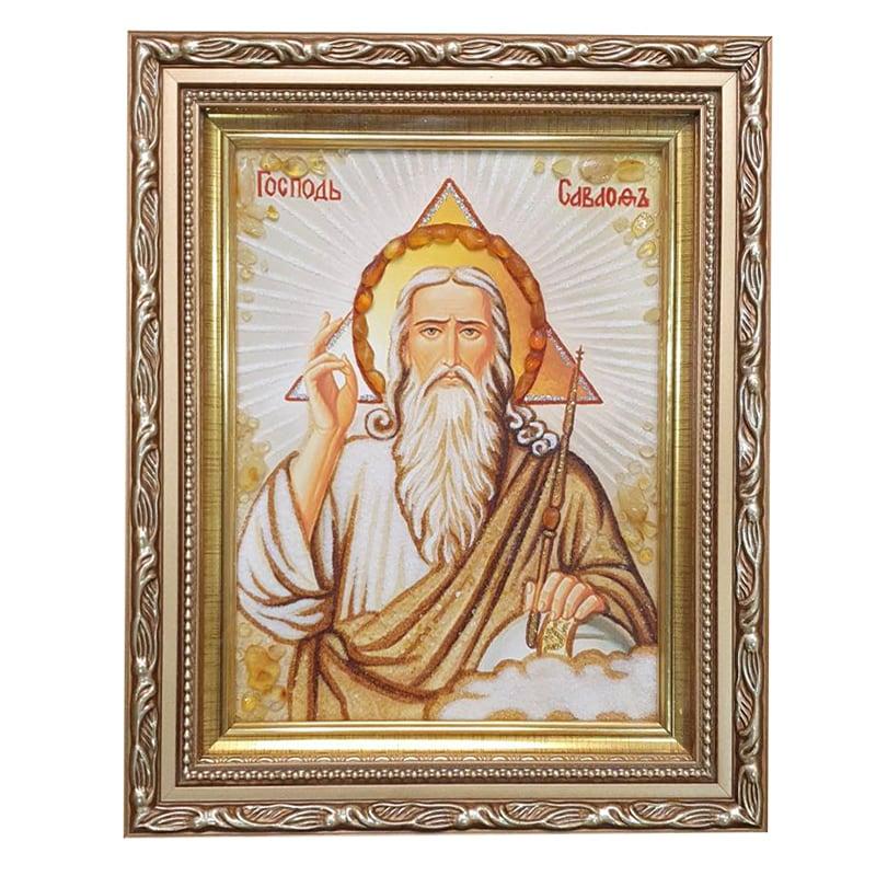 Икона из Янтаря Господь Саваоф