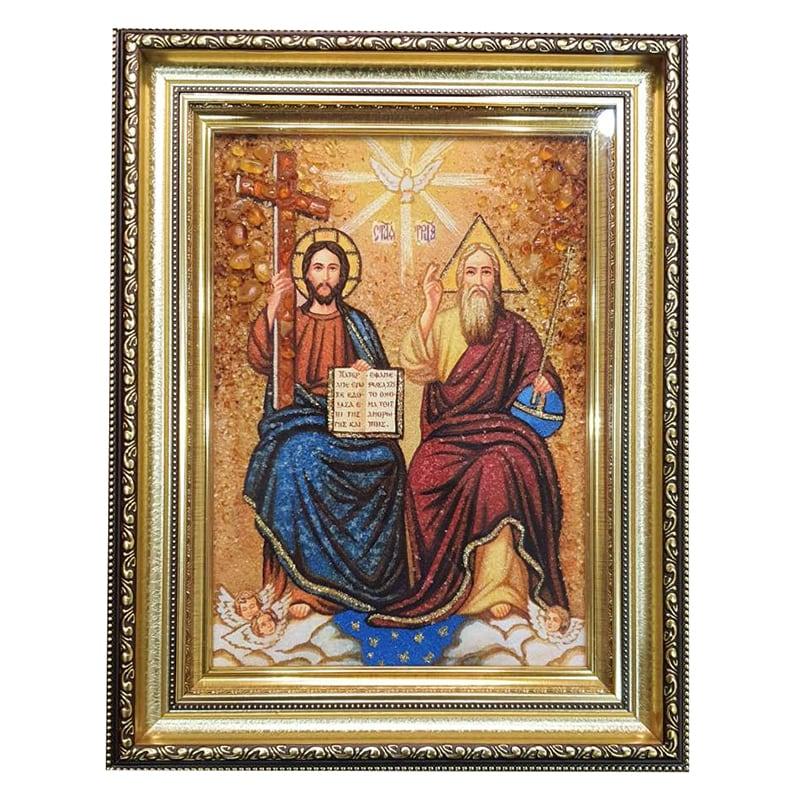 Икона из янтаря Святая Троица