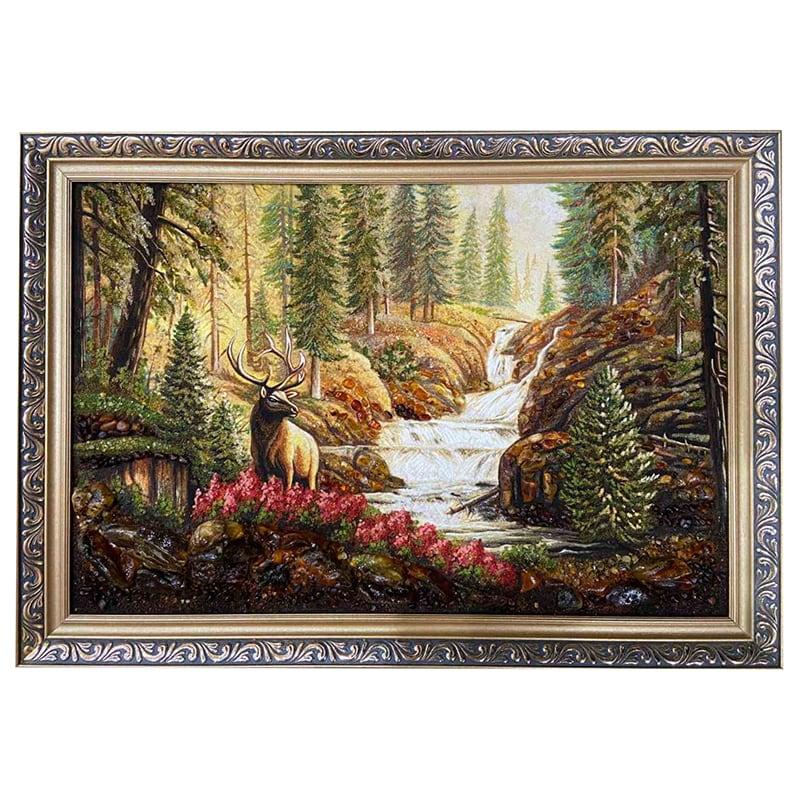 Картина из янтаря Лесной Олень