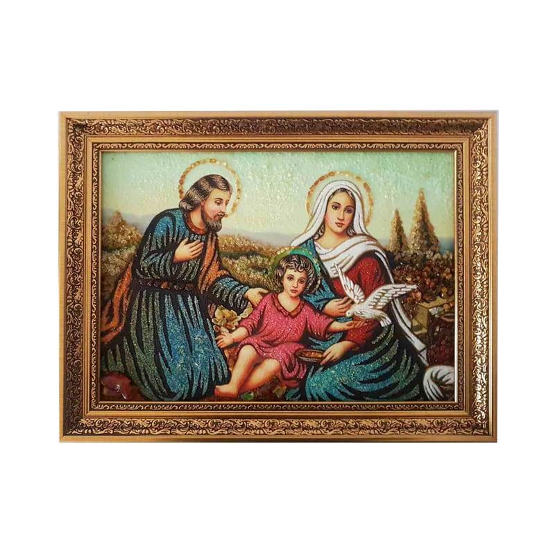 Икона из янтаря Святое Семейство