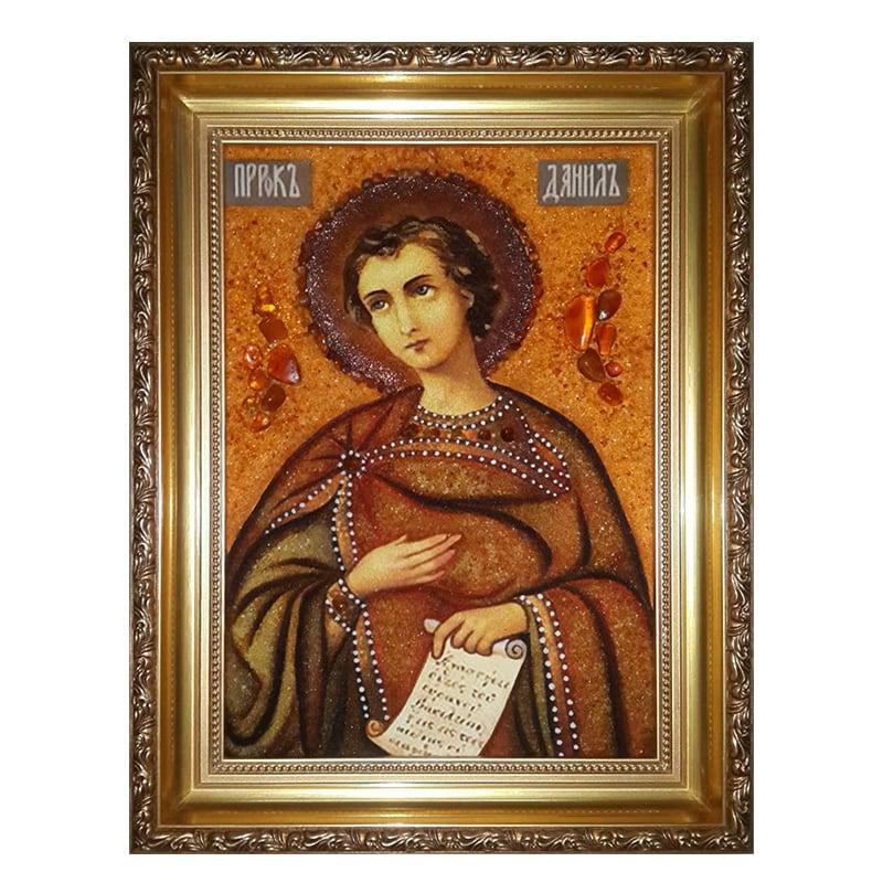 Икона из янтаря Святой Пророк Даниил