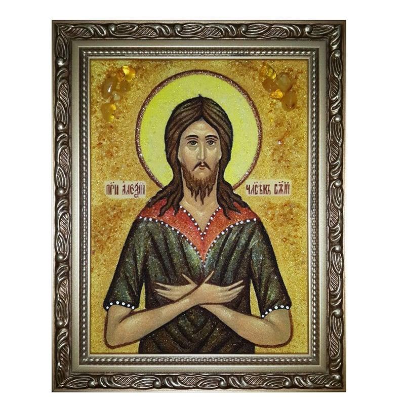 Ікона з бурштину Святий Преподобний Алексій
