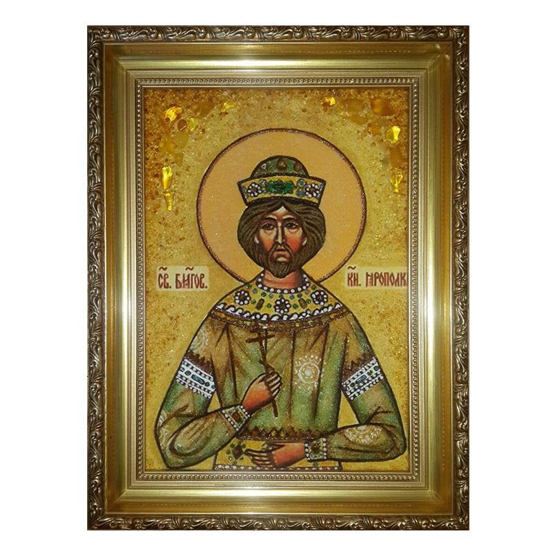 Икона из янтаря Святой Благоверный Князь Ярополк