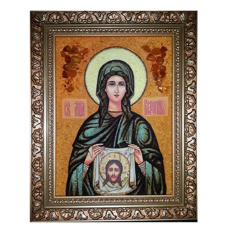 Икона янтарь Святая Вероника