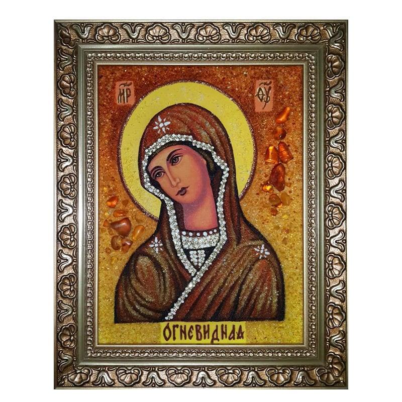 Ікона з бурштину Божої Матері Огневидной
